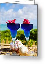 Tropical Cocktails Greeting Card