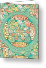 Tropical Color Abstract Greeting Card