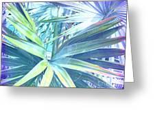 Tropical Dreams In Pastel Purple-blue Greeting Card