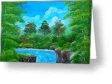 Tropical Falls Greeting Card