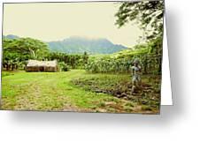 Tropical Farm Greeting Card