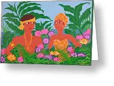 Tropical Flirtation Greeting Card