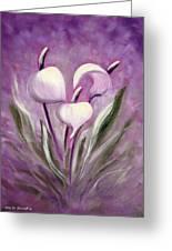 Tropical Flowers In Purple Greeting Card