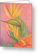 Tropical Flowers Greeting Card by Ladonna Idell