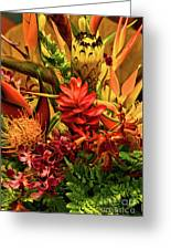 Tropical Flowers Greeting Card