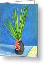 Tropical Flowers Still Life #218 Greeting Card