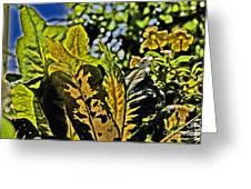 Tropical Foliage A-la Monet Greeting Card