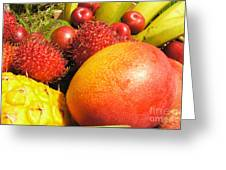 Tropical Fruit Delight Greeting Card