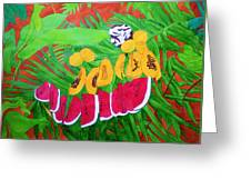 Tropical Fruits Greeting Card