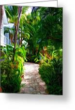 Tropical Garden Passage Greeting Card