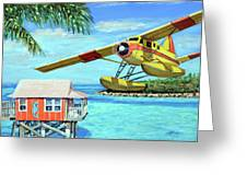 Tropical Getaway Greeting Card by Chris Dreher