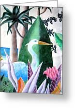 Tropical Goose Greeting Card