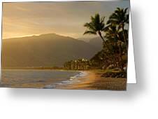 Tropical Hawaiian Paradise Greeting Card