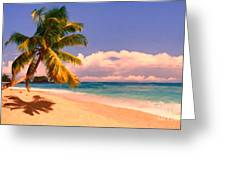 Tropical Island 6 - Painterly Greeting Card