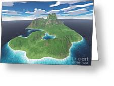 Tropical Island Greeting Card