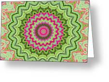 Tropical Kaleidoscope Greeting Card