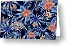 Tropical Leaf Pattern 4 Greeting Card