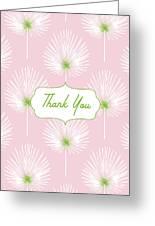 Tropical Leaf Thank You- Art By Linda Woods Greeting Card