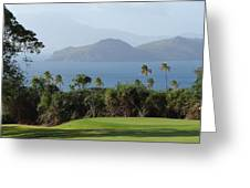 Tropical Links - Nevis West Indies Greeting Card