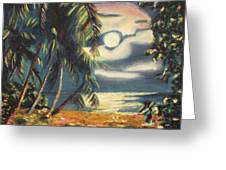 Tropical Nights Greeting Card by Suzanne  Marie Leclair