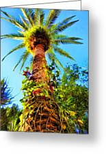 Tropical Palm Tree Painting Greeting Card