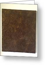 Tropical Palms Canvas Bronze - 16x20 Hand Painted Greeting Card