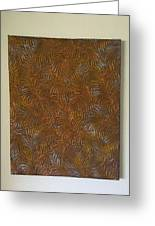 Tropical Palms Canvas Copper Silver Gold - 16x20 Hand Painted Greeting Card