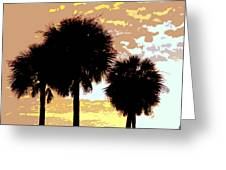 Tropical Palms Work Number Four Greeting Card