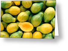 Tropical Papayas Greeting Card