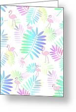 Tropical Pink Flamingos Greeting Card