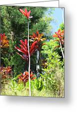 Tropical Plant In Garden Of Eden Greeting Card