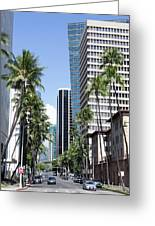 Tropical Street Greeting Card
