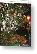 Tropical Streetlight Greeting Card