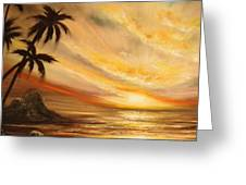 Tropical Sunset 65 Greeting Card