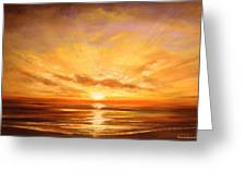 Tropical Sunset 75 Greeting Card
