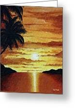 Tropical Sunset Greeting Card