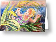 Tropical Water Baby Greeting Card