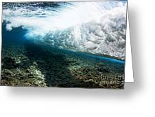 Tropical Wave Curl Greeting Card