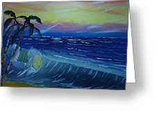 Tropical Wave Greeting Card