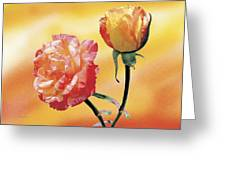 Tropicana Roses 2 Greeting Card