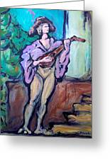 Troubadour Greeting Card
