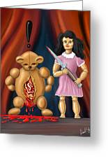 Trouble In Toyland Greeting Card by David Kyte