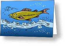 Trout Fish Swimming Underwater Greeting Card by Aloysius Patrimonio