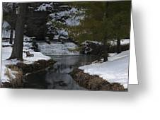 Trout Hatchery Falls Greeting Card
