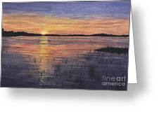 Trout Lake Sunset II Greeting Card