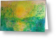 Trees In Sunset Greeting Card
