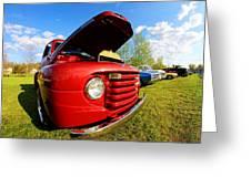 Truck Headlight Greeting Card