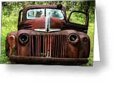 Truck In Medow Greeting Card