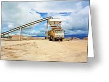 Truck Loading Gravel In Tabnzania. Greeting Card