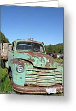 Truck Montana Greeting Card